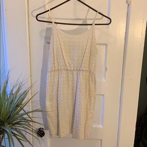(S) summer dress. White